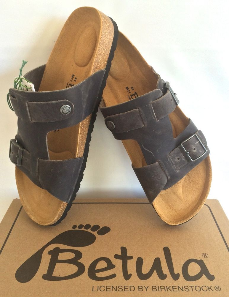 df369e757a96 New Mens Birkenstock Betula Adam NL Soft Leather Sandals SIZES US 11(44) 12( 45)  Birkenstock  Slides