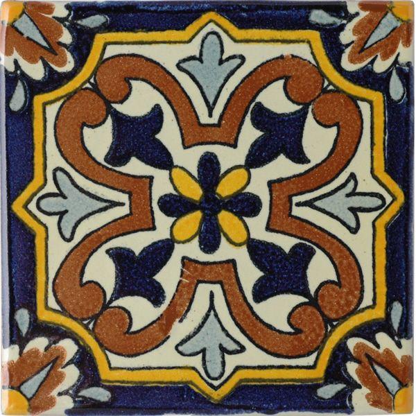 Mexican Tile Villafranca 2 Terra Nova Hacienda Ceramic Tile Ceramic Tiles Mexican Tile Ceramics