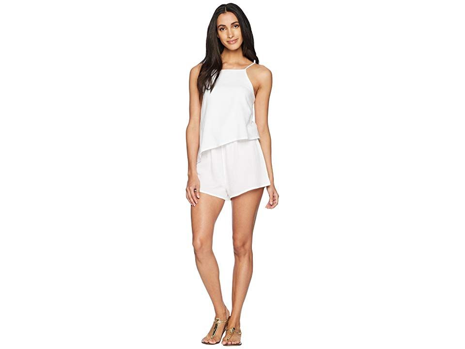 ONeill Vinnie Romper White Womens Shorts A breezy summer staple the ONeill Vinnie Romper is perfect for beachside vacations or days about town High neck romper in a soft...
