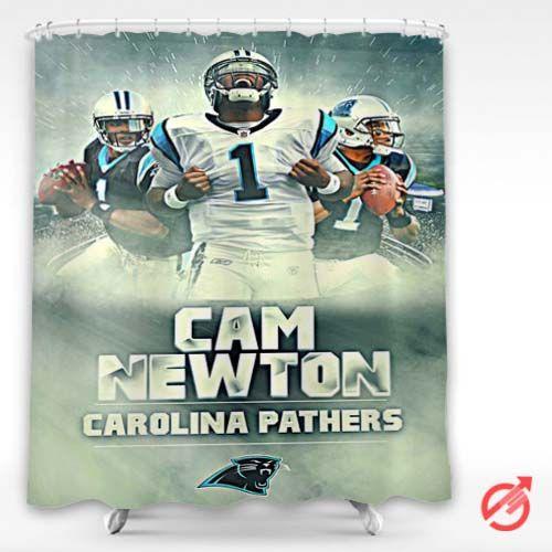 Cheap NFL Cam Newton Carolina Panthers Expression Shower Curtain