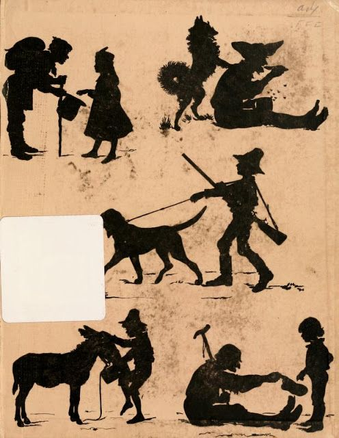 silhouette graphics on the end paper of an old book victorian  is shylock a victim or a villain essay victorian age essay