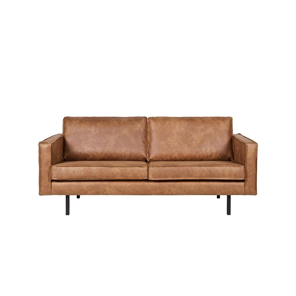 Recycling Leder Sofa Ulada In Braun