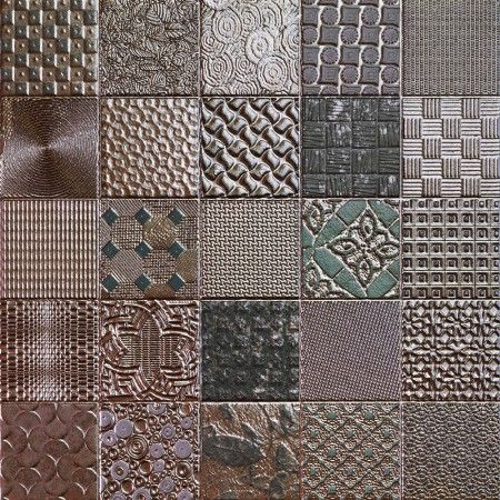 Metallic Tiles Patchwork Mosaic Effect Tiles Xxmm Tiles - Metallic bathroom tiles