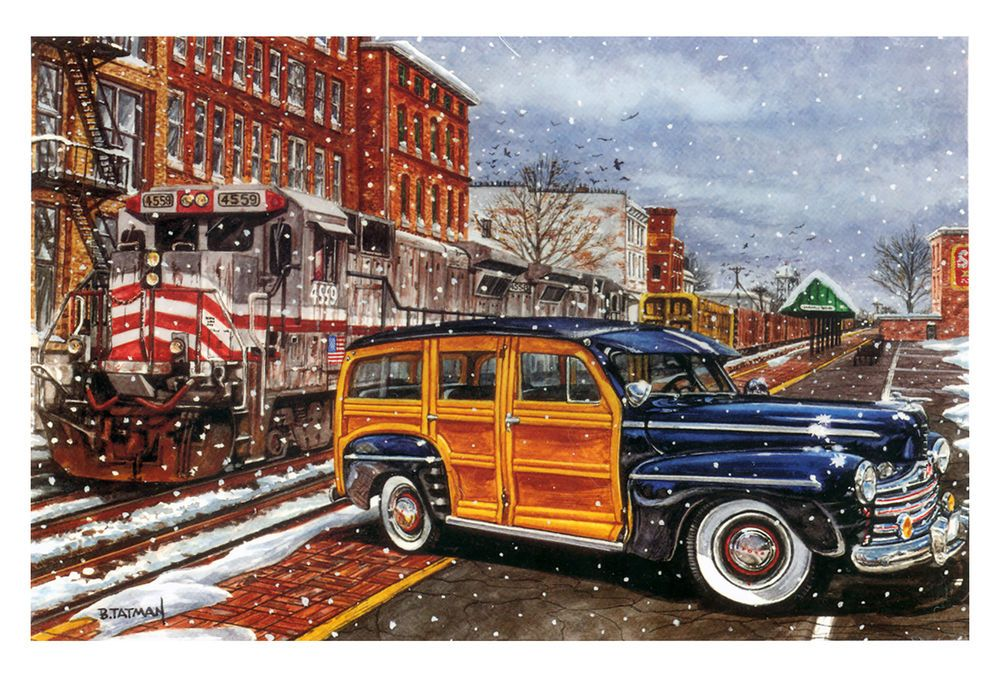 Woody / Hot Rod Christmas Cards - X-763 - One (1) Pack of 10 Cards ...