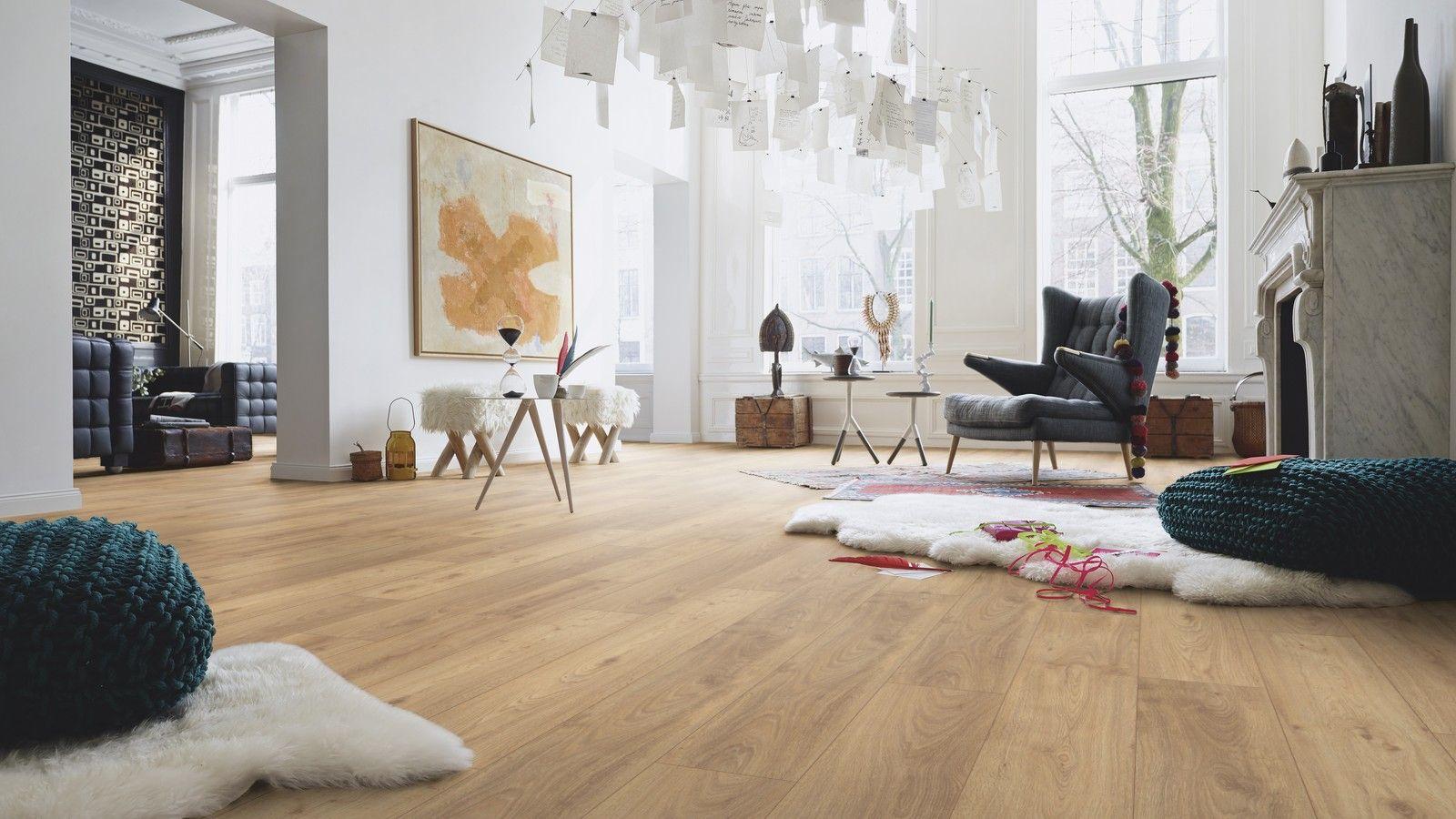 Stratifié Compressé Salle De Bain sol stratifié chanfreiné ld75 de chez meister décor : chêne