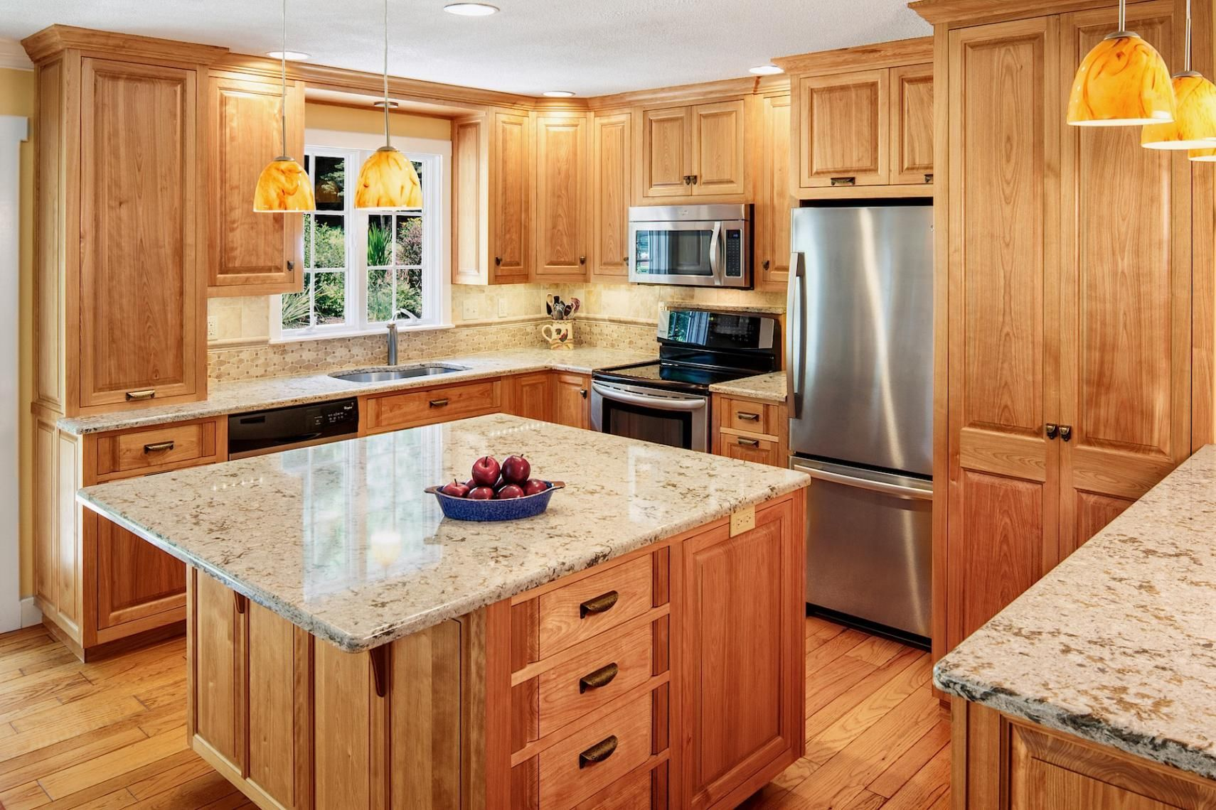 Custom Kitchen Cabinets Massachusetts Raised Panel Red Birch Custom Cabinetry Kitchen In 2019