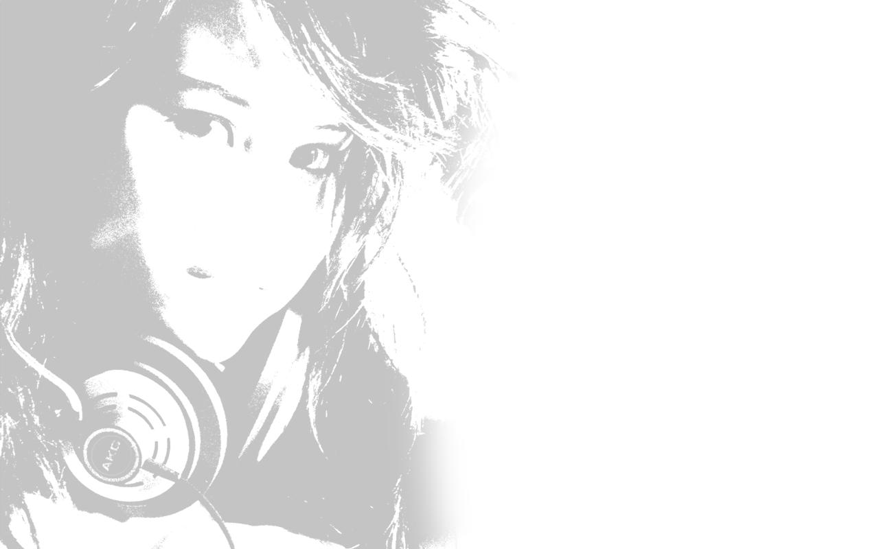 headphones women  / 1280x800 Wallpaper