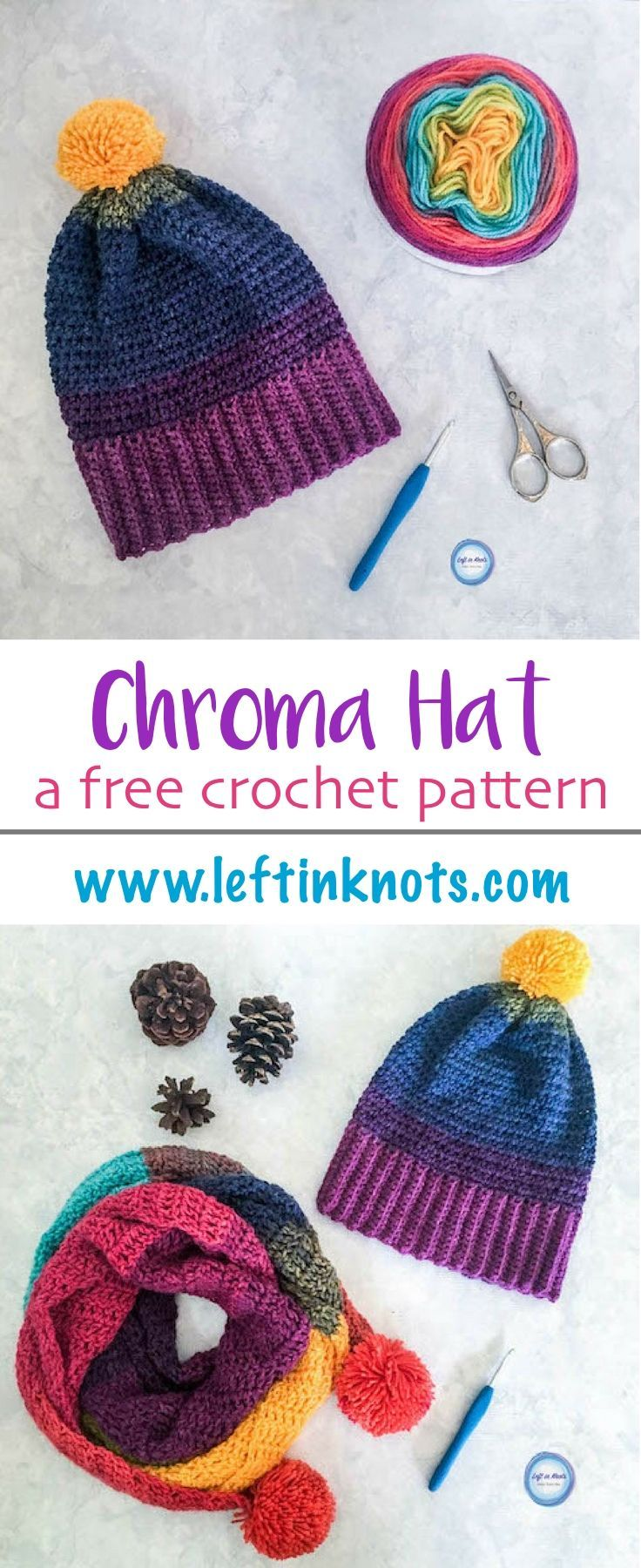 Chroma Hat - Free Crochet Pattern | Crochet Hats | Pinterest ...