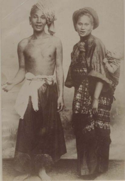Burmese couple, c. 1880