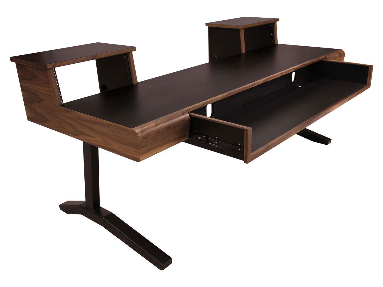 SCS Keyboard Desks 88 Key 4RUx2 Walnut   Home Studio Desks ...