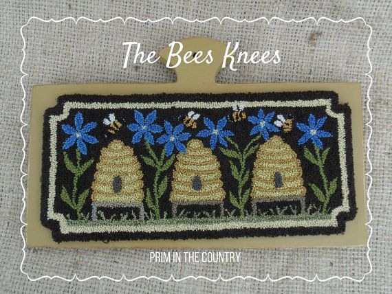 The Bee's Knees Punch Needle Pattern by PrimInTheCountry on Etsy