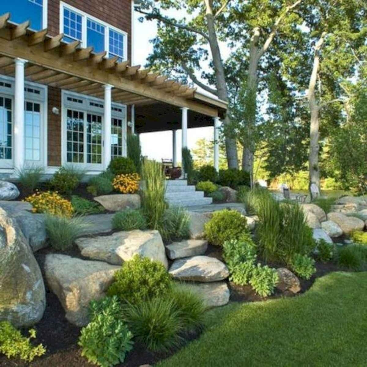 40 Cool Front Yard Garden Landscaping Design Ideas And Remodel Landscaping With Rocks Small Front Yard Landscaping Rock Garden Landscaping Small farmhouse backyard ideas