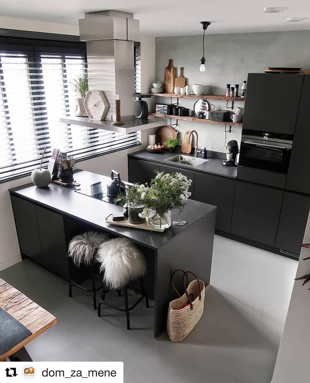 Kuchnia Z Wyspa Czy Bez Nam Do Serca Wpadla Ta Inspiracja Dobroci Dla Was Mieszkanie Wnetrze Inspiracja Czasn Home Decor Kitchen Dining Kitchen