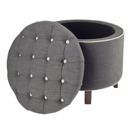 Beautiful Tufted Storage Ottoman in Gray Chairs Pinterest