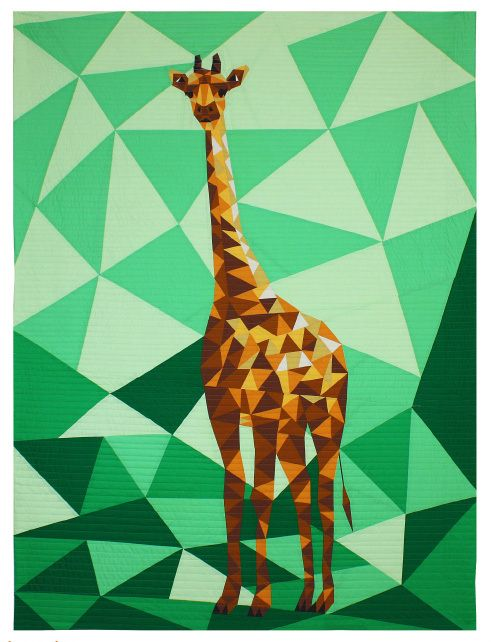 Foundation Paper Piecing Pattern 44 x 60 Quilt The Giraffe Abstractions Quilt
