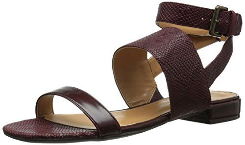 Nine West Womens Wishwell Reptile Dress Sandal Dark RedDark Red 65 M US -- Check out this great product.