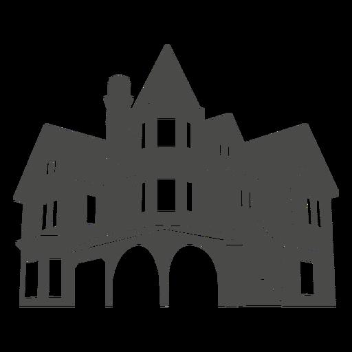 18f6be93175fe25d1d5faf56fcb1a652 European House Silhouette 1 By Vexels Png 512 512 House Silhouette European House Background Design