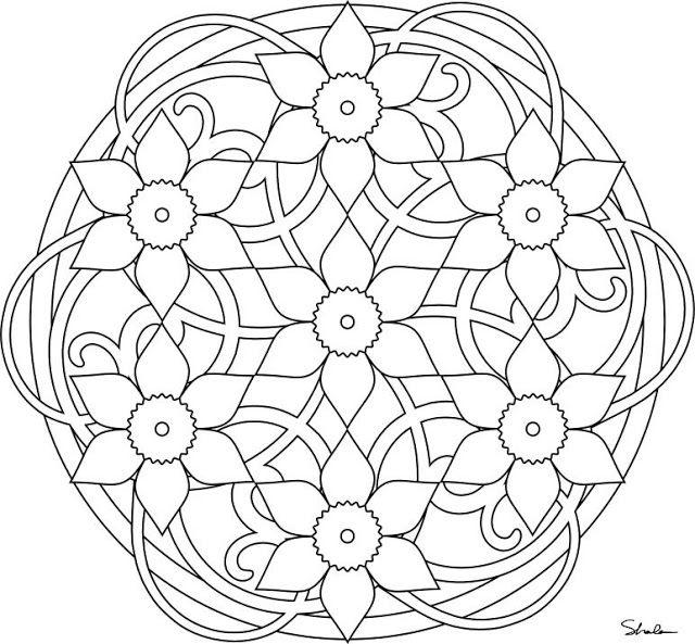 Mandales Primavera Mandala Coloring Pages Mandala Coloring Spring Coloring Pages