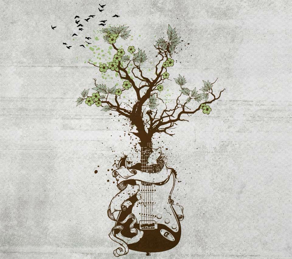 Guitar tree Tattoos Pinterest Tatuagem Tatuagem