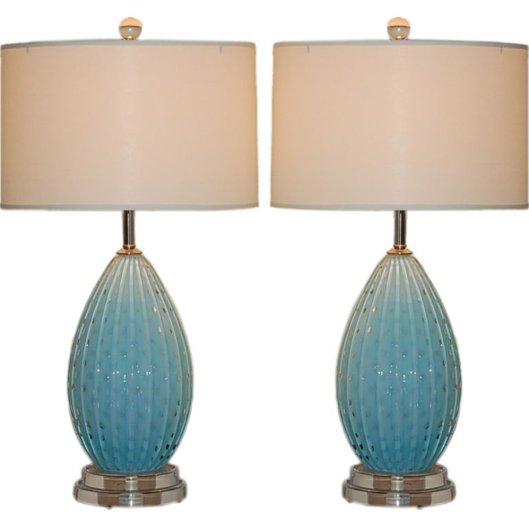 Perfect 1stdibs   Alfredo Barbini   Baby Blue Vintage Murano Table Lamps Explore  Items From 1,700 Global Ideas