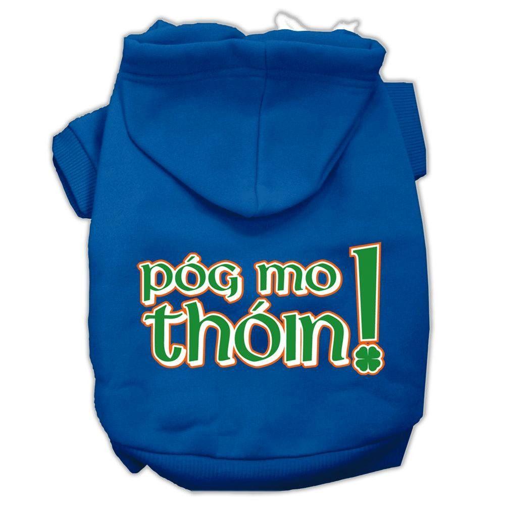 Pog Mo Thoin Screen Print Pet Hoodies Blue Size XS (8)