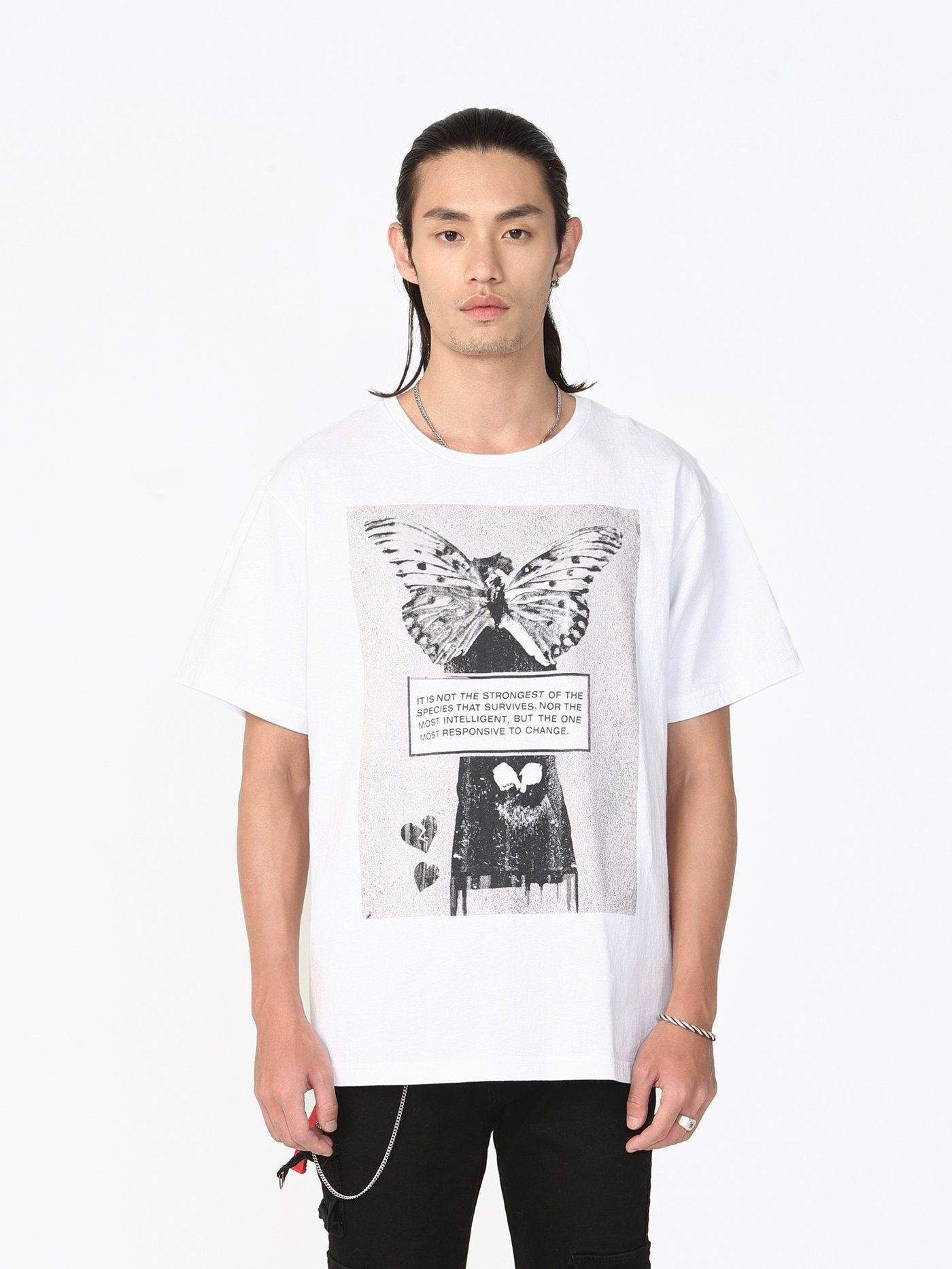 62c4ad467 Responsive to Change Tee in White in 2019 | Commune 2 | Tees, Mens tops