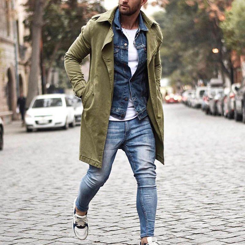 Men's Solid Color Button Coat en 2020 Chalecos de moda