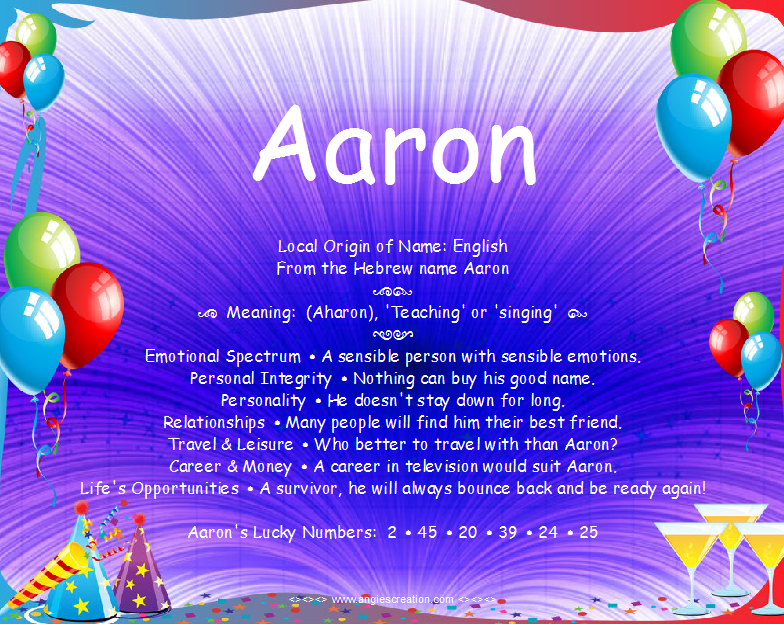 Aaron - Name Meaning   Names with meaning, Names, Meant to be