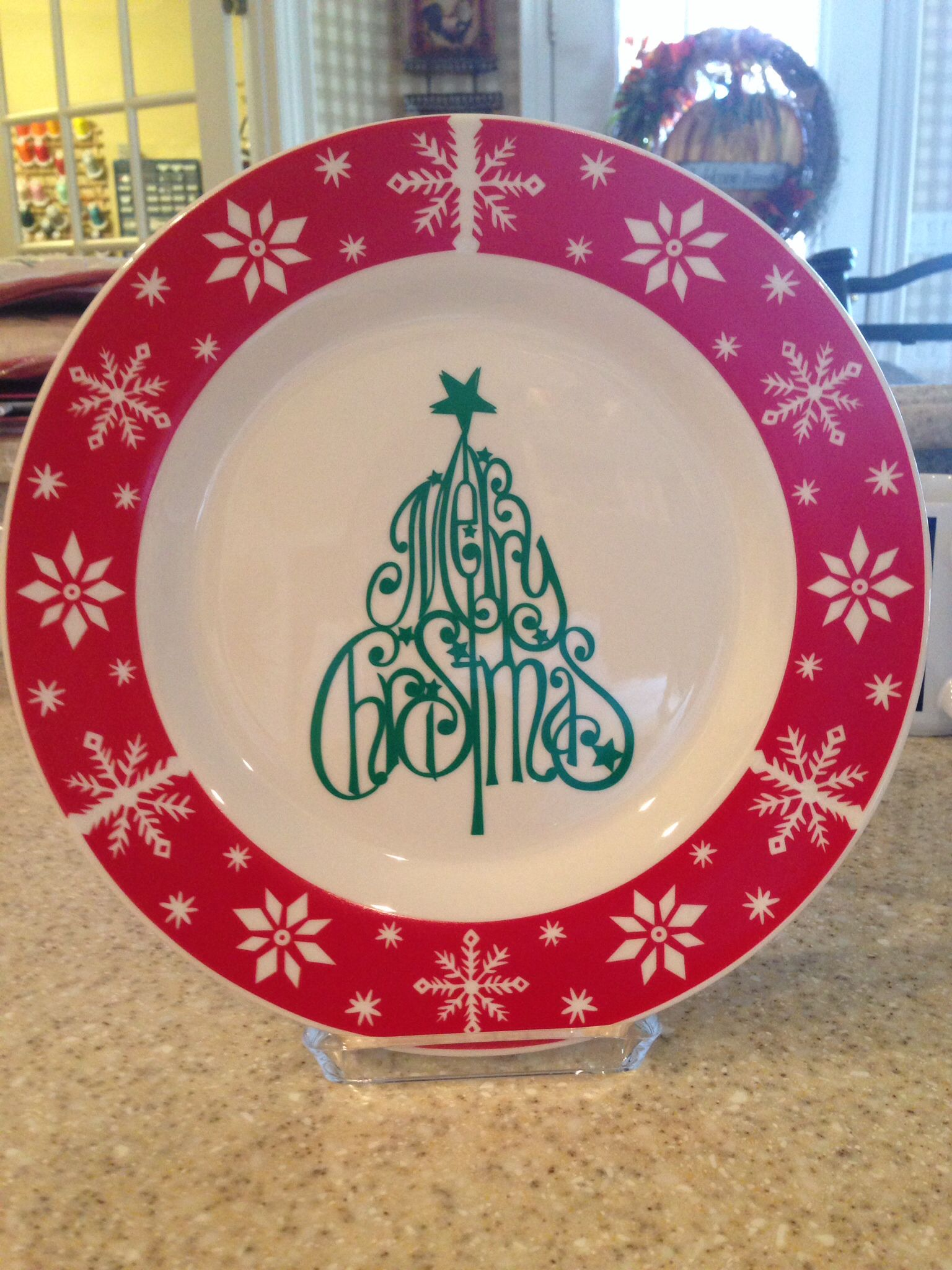 Christmas plate with vinyl & Christmas plate with vinyl   Things I have made   Pinterest