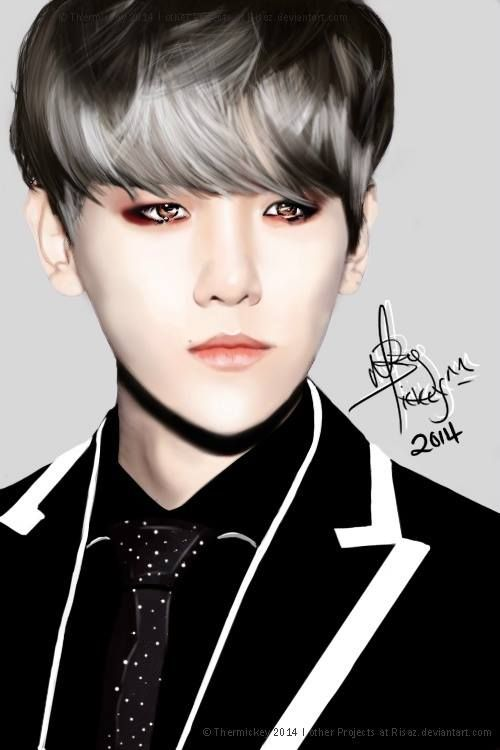 Baekhyun fan art// 0.0 I THOUGHT THIS WAS AN ACTUAL PIC OF HIM