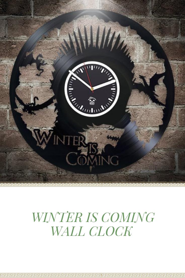 Winter Is Coming Serial Vinyl Record Clock Wall Clock
