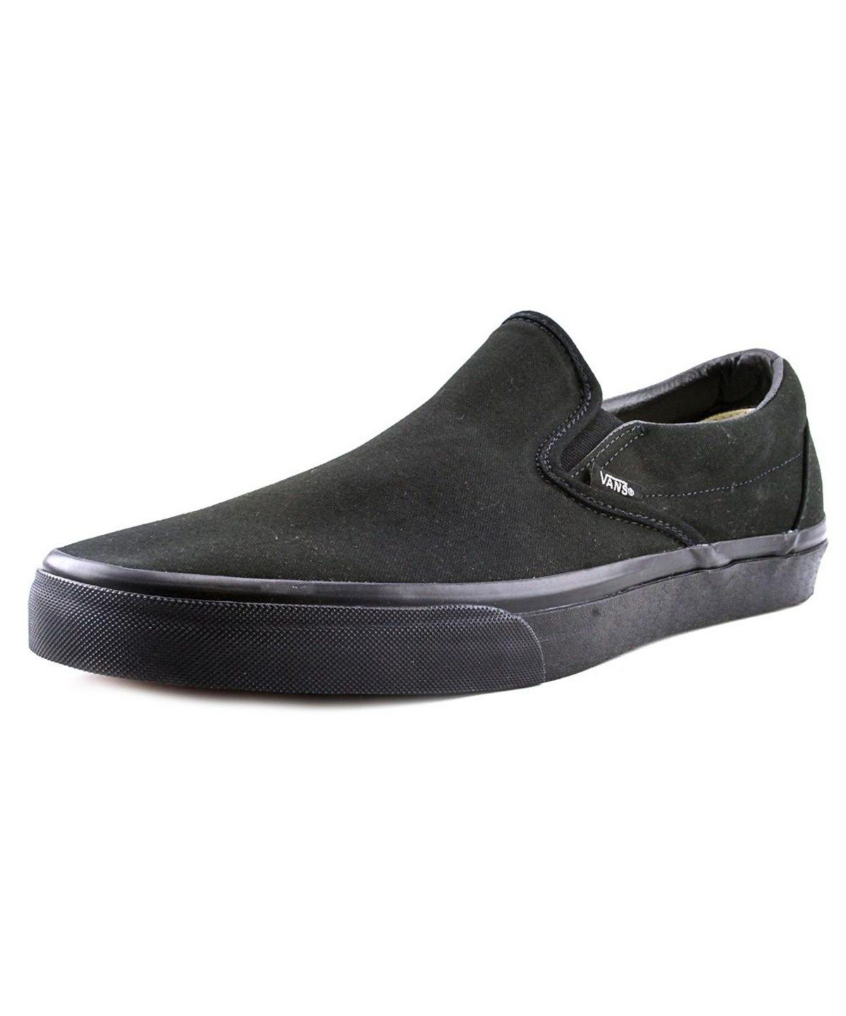 7e648c221aa72f VANS Vans Classic Slip-On Men Round Toe Canvas Black Loafer .  vans  shoes   loafers