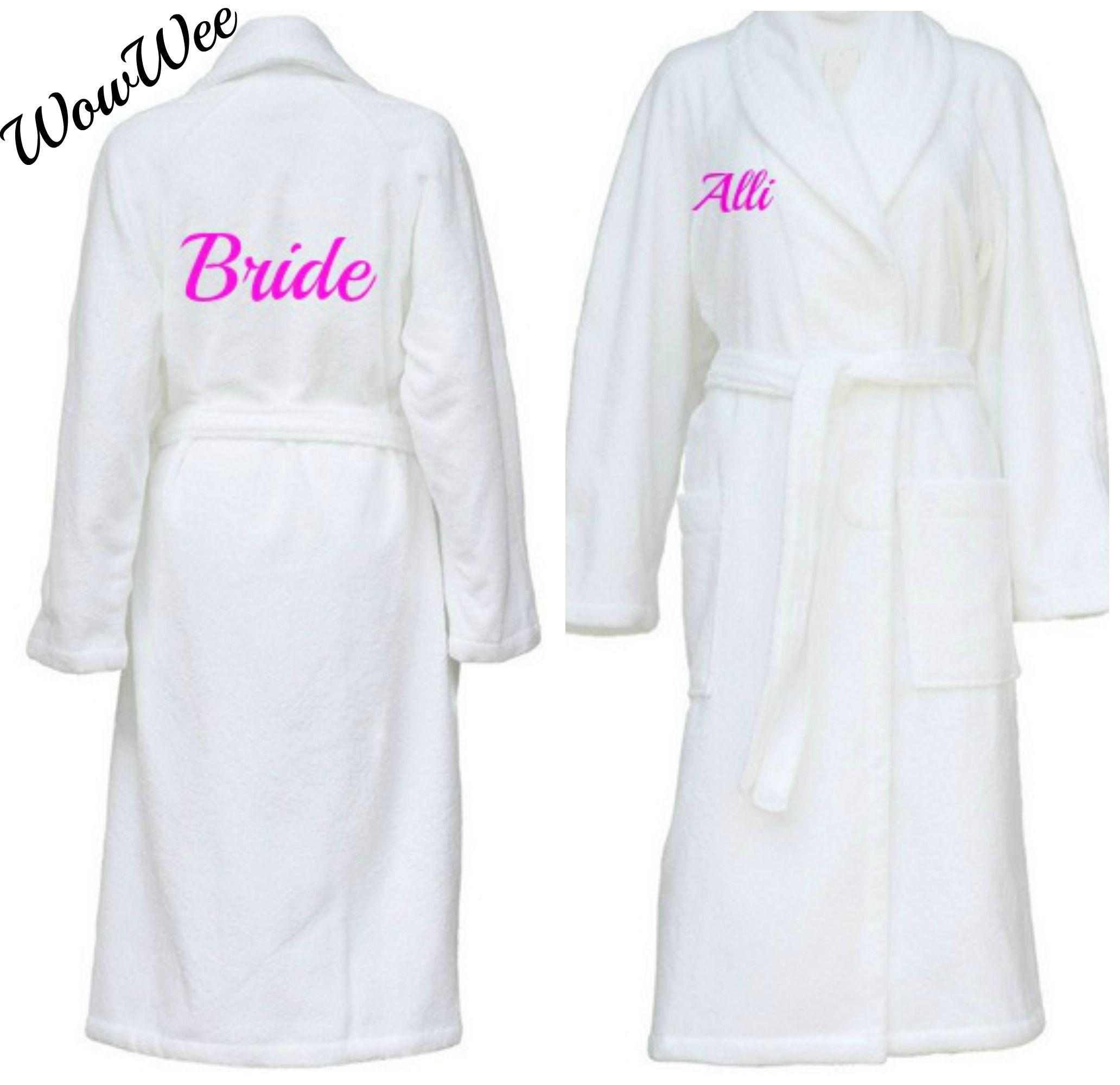 Personalised Fluffy Bridal Robes Bundle of 3 + | Bridal parties ...
