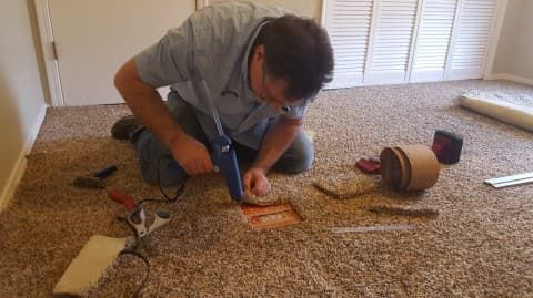 how to fix carpet holes