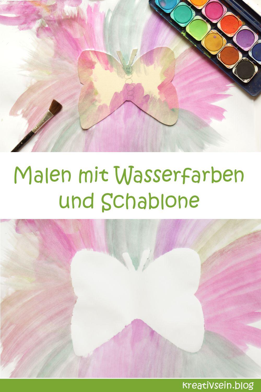 Tierische Idee zum Malen mit Kindern und Wasserfarben - kreativsein.blog