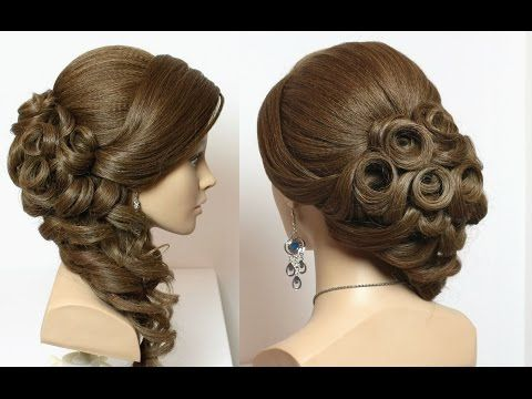 Youtube Hairstyles Enchanting Prom Bridal Hairstyle For Long Hair Tutorial With Braids And Curls