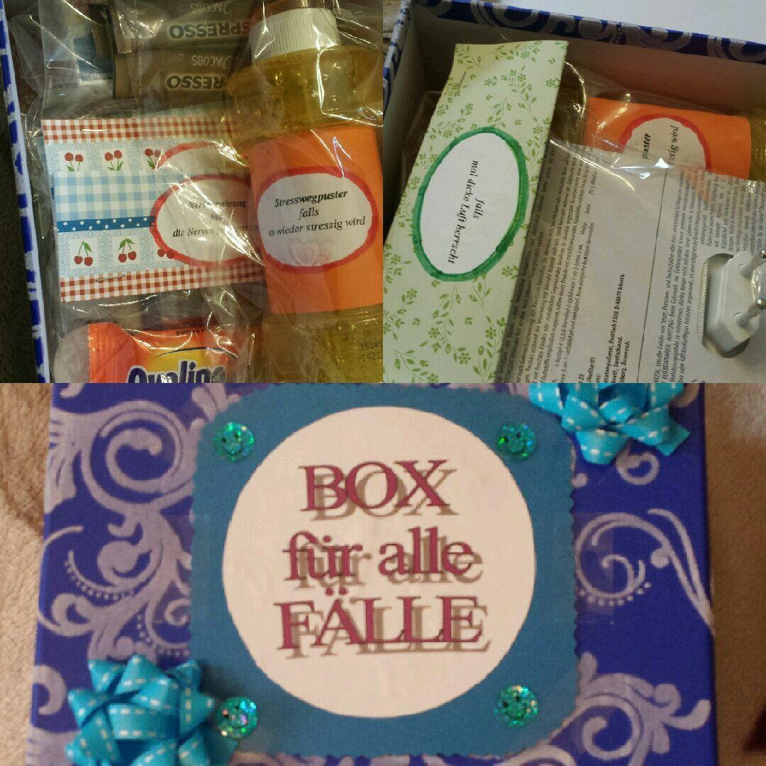 Nach Idee vom Wenn-Buch habe ich eine Box für alle Fälle gestaltet