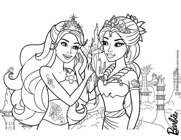 Mermaids Mom And Daughter Barbie Coloring Page More Barbie Mermaid Content On Hellokids Com Barbie Coloring Barbie Coloring Pages Mermaid Coloring Pages
