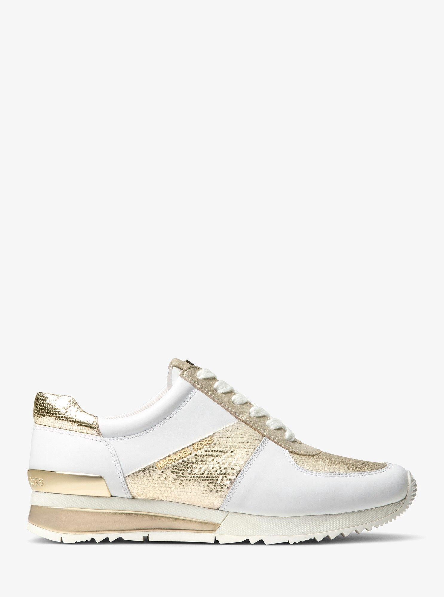 Michael Kors Allie Metallic Leather Sneaker 5 | Sneakers