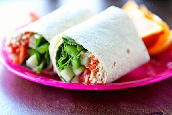 hummus and veggie wraps  recipe  work lunch veggie