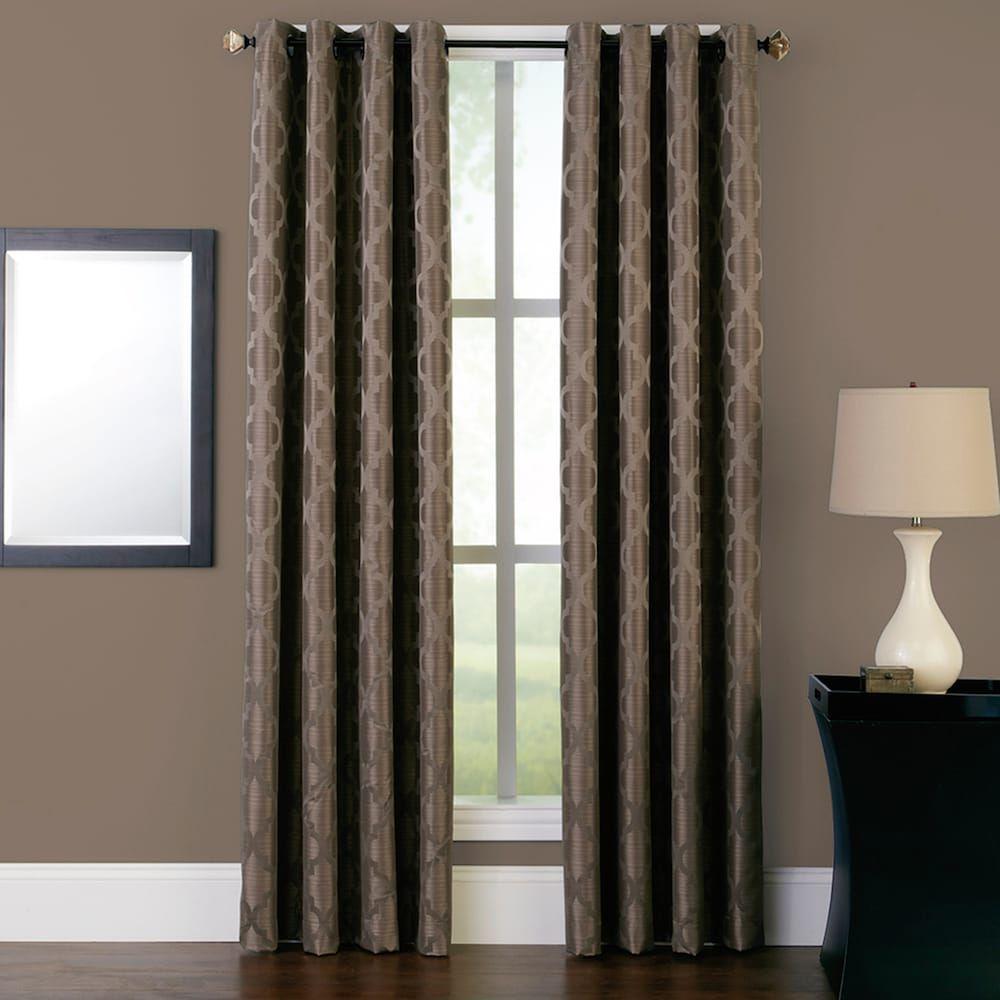 Peri Saybrook Window Curtain Dark Brown Window Panels Curtains