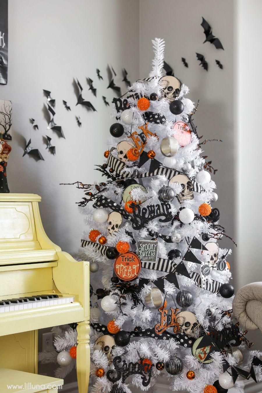 Halloween Home Decor 2016 Lil Luna Halloween Tree Decorations Halloween Home Decor Halloween Christmas Tree