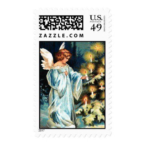 Christmas Angel U S Postage Postal Stamp Zazzle Com