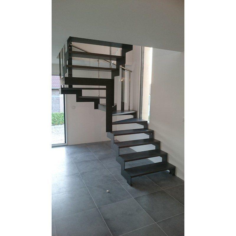 b1f4767fe3f escalier sans contremarche pas cher DOUBLE LIMON IMAGINE LASER DEMI  TOURNANT bois