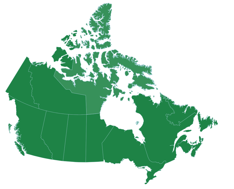 Canada Provinces and territories Even though Nunavut is