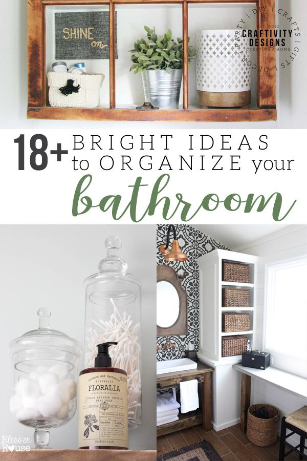 18 bright ideas to organize your bathroom bathroom inspiration rh pinterest com