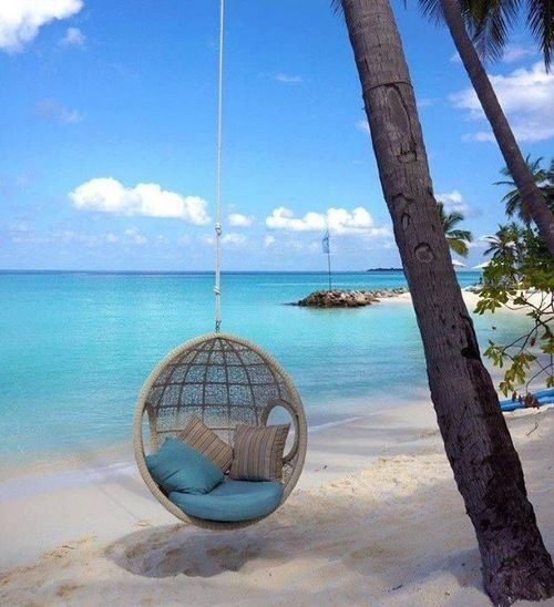 Beach Curl-Up, The Maldives (The Best Travel Photos