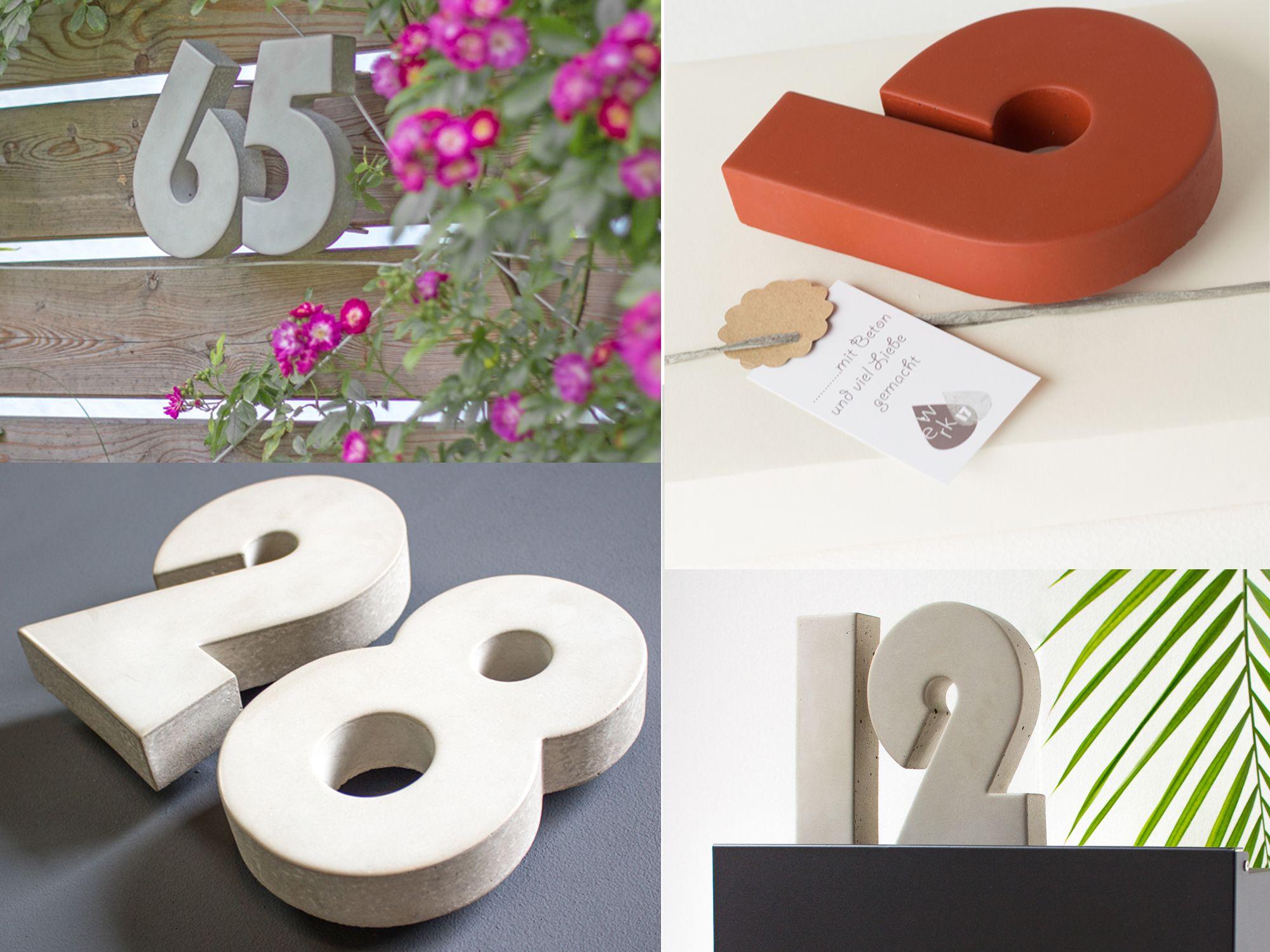 Hausnummer Modern hausnummer hausnummer beton hausnummer anthrazit hausnummer weiß