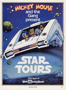 B2G1 FREE!! COLLECTOR POSTER 4 DIFFERENT SIZES DISNEY WORLD STAR TOURS