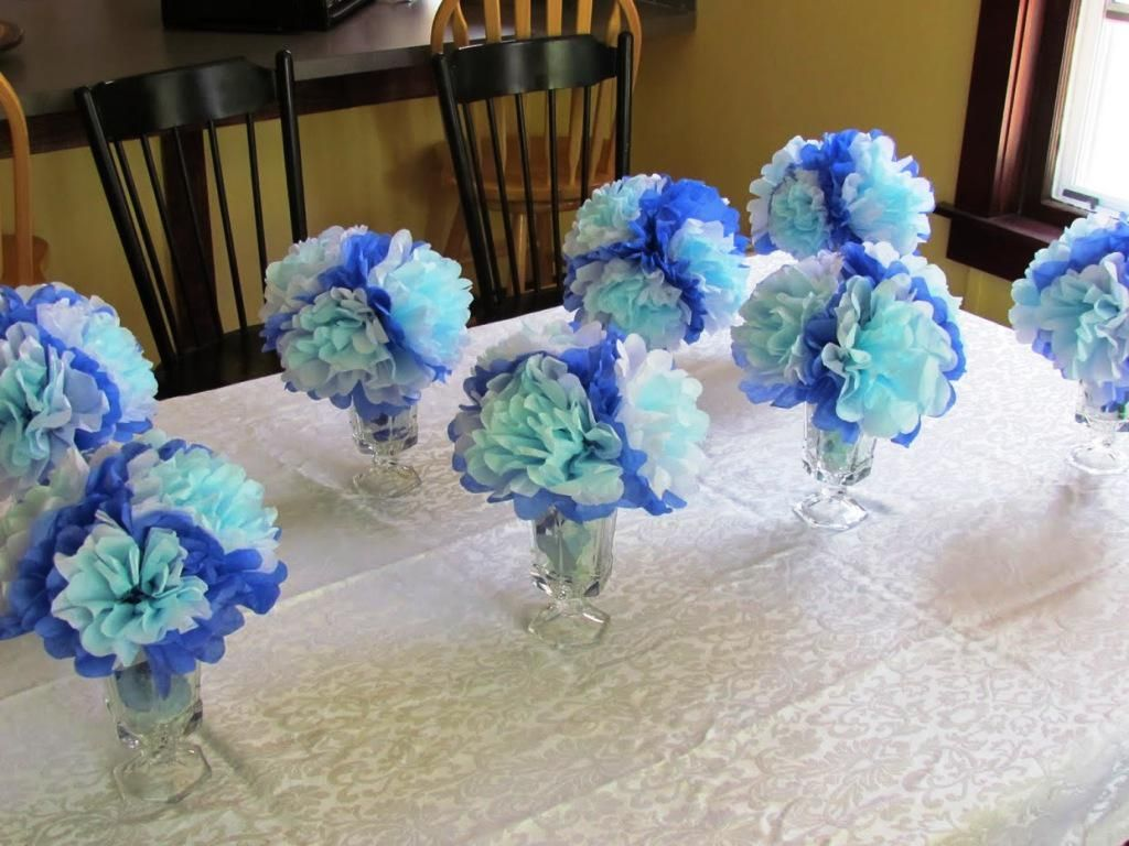 Simple baby shower centerpieces decoration ideas